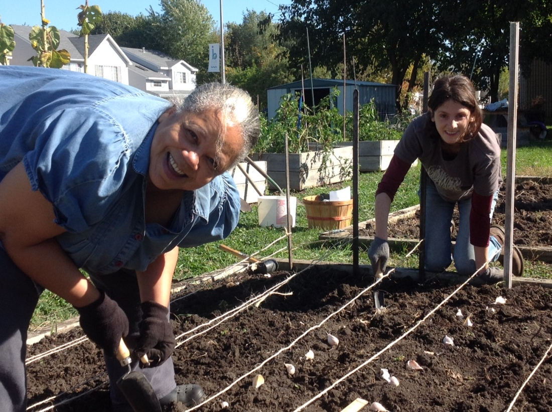 Community garden coordinator Emma Miller